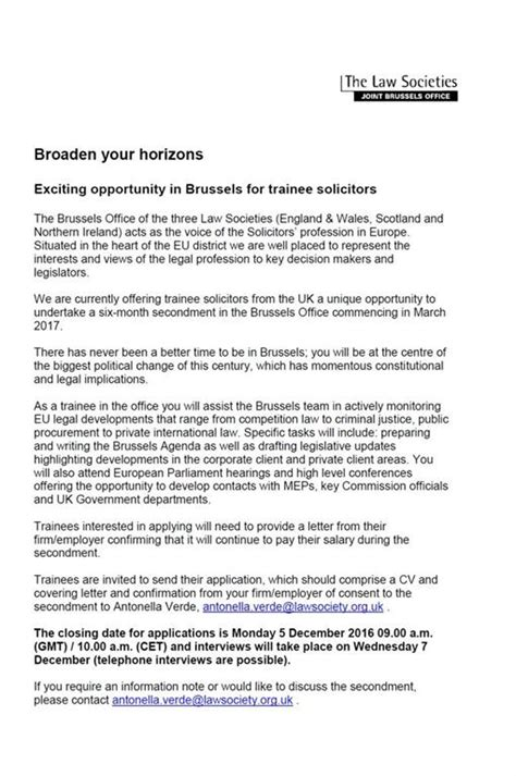 trainee solicitor cover letter the society of northern ireland