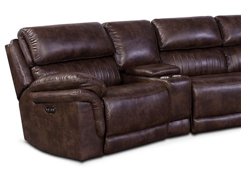 2 piece reclining sectional monterey 6 piece power reclining sectional with 2 wedge