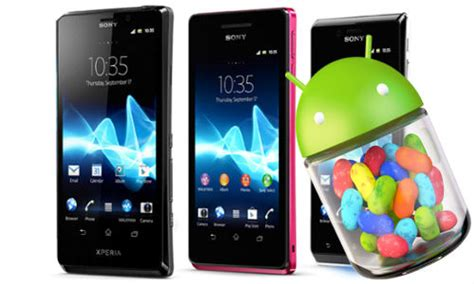 Hp Sony Xperia Android Jelly Bean android 4 1 jelly bean sony xperia t tx and v smartphones to get the update in 1q13 gizbot