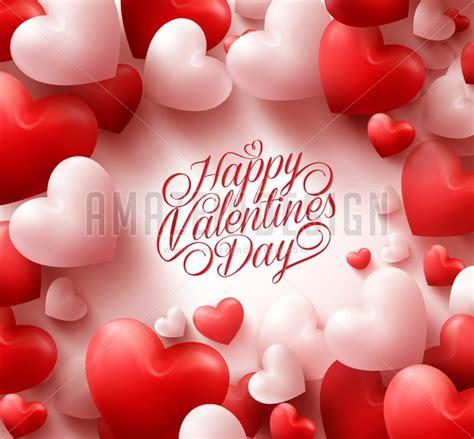 3d valentines hearts valentines background vector amazeindesign