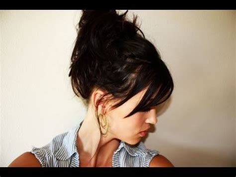 how to make easy hairstyles on youtube creative hairstyles easy messy bun youtube