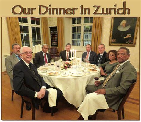 our dinner in zurich
