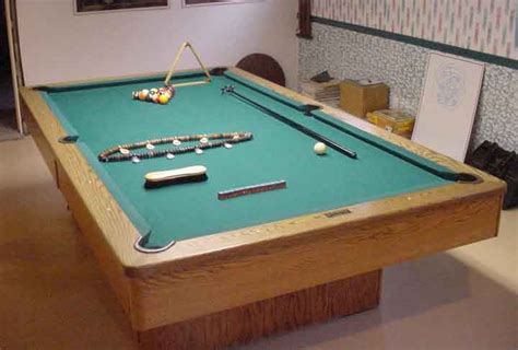 standard pool table size