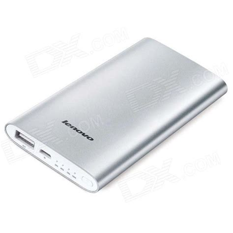 Power Bank Lenovo 5000mah lenovo mp506 5000mah usb mobile power source bank w 4 led indicator silver free shipping