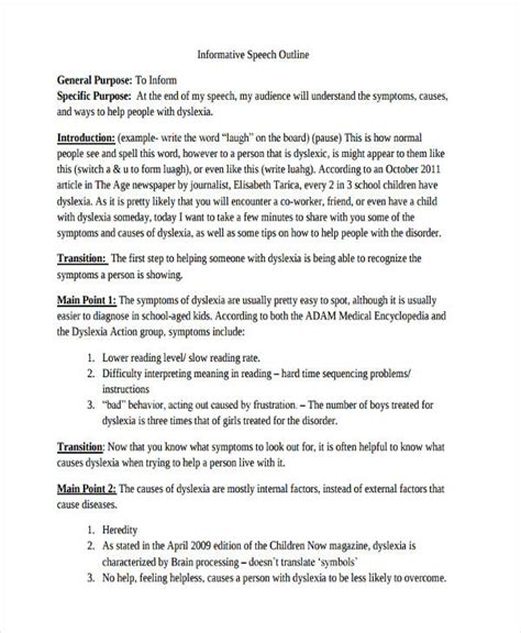 Therapy Speech Outline by Speech Outline Exles Persuasive Speech Outline Sle Persuasive Speech Outline Template 9