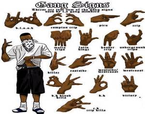 gallery for gt crips sign with fingers