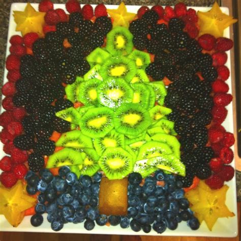 christmas tree fruit tray fancy fruit and vegetables
