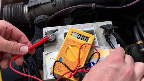 pkw lichtmaschine pruefen generator pruefung mit multimeter