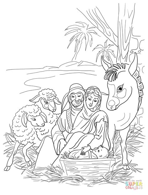 Joseph Jesus Coloring Pages