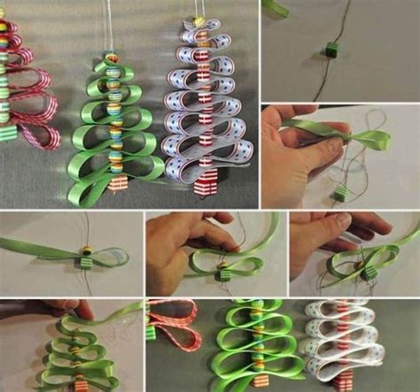 diy beads and ribbon christmas tree pictures photos and