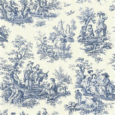 french pattern blue and white toile de jouy tells a story in your home