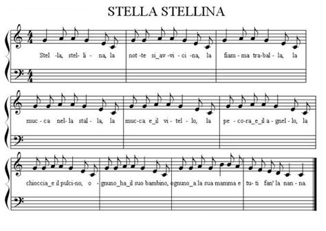 stella testo stella stellina celeberrima ninna nanna scritta dalla