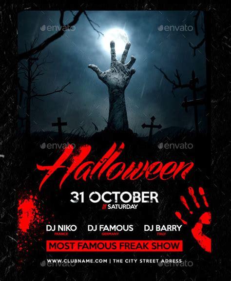 template photoshop halloween 25 hellacious psd halloween flyer templates 2015 web