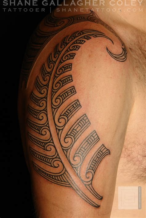 silver tattoo shane tattoos maori silver fern