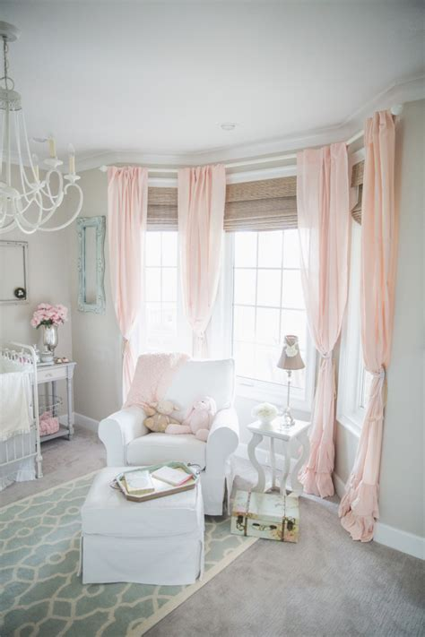 pink and white curtains for nursery blushing pink nurseries project nursery