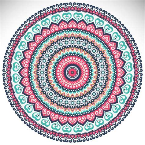 colorful mandala colorful mandala on a white background vector free