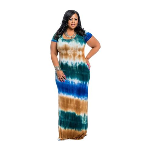 plus size tie dye multi color maxi dress addicted2fashion