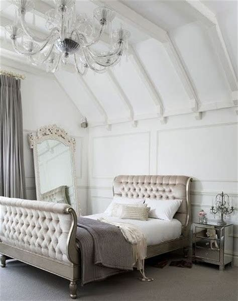 white silver bedroom bedroom inspiration silver white mirror gray via the