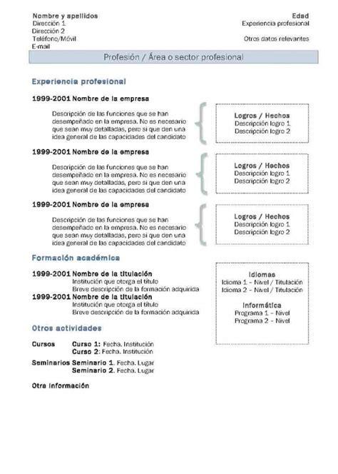 Modelo De Curriculum Vitae Cronologico Word Curr 237 Culum Vitae Modelo 2 Tienda De Curriculum Vitae