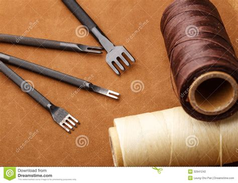 Handmade Leather Tools - handmade leather craft tool stock photography image