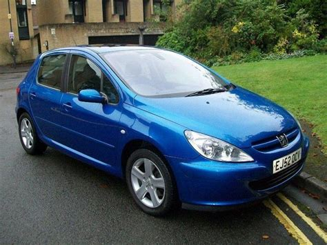 blue peugeot used 2002 peugeot 307 hatchback blue edition 2 0 xsi 5dr