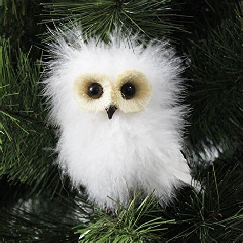 wonderful white owl christmas ornaments xpressionportal