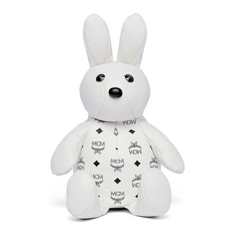 Rabbit Backpack In Visetos Black mcm rabbit doll visetos backpack in white vevostars