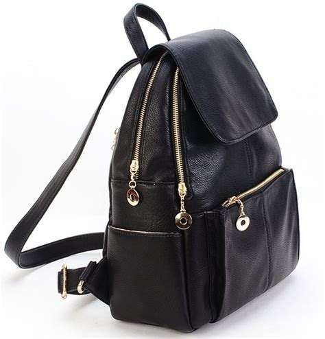 Tas Impor C91427 Black Leather Bag Fashion Korea Kulit Buaya Sling Bag new korea fashion genuine leather bag backpack leather school backpack travel