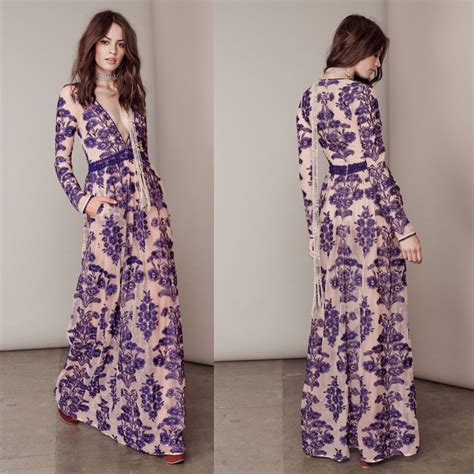 Women Love Luxury Temecula Maxi Dress Embroidered Floral Mesh Maxidress Summer See Through Nude