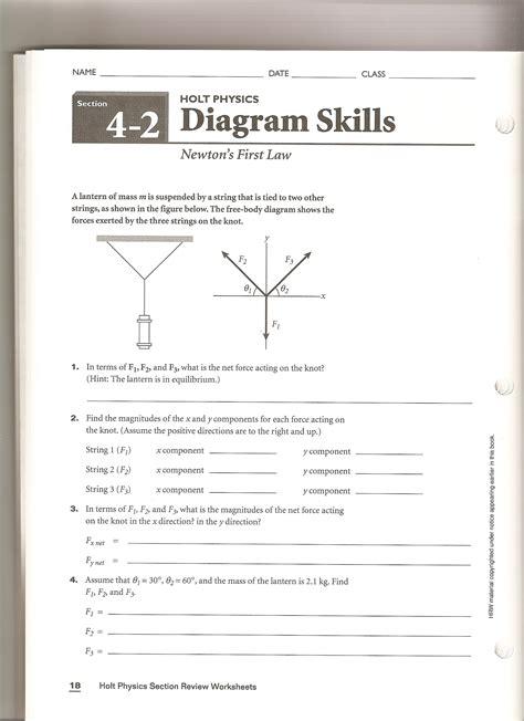 physics section review answers uncategorized holt physics worksheets klimttreeoflife