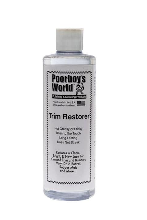 Trim Restorer Back To Black Original poorboys trim restorer for plastic car bumper vinyl rubber