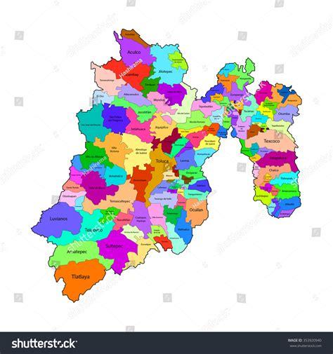 consulta de fotomultas en estado de mxico estado de mexico map mexico city stock vector 353920940