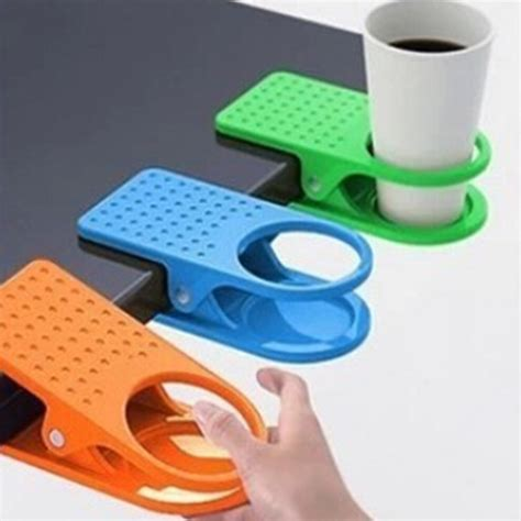 desk cup holder drink clip table folder reading