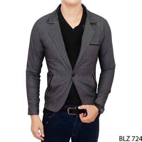 stretch blazer blz 744 blazer casual pria stretch grey blz 724 gudang fashion