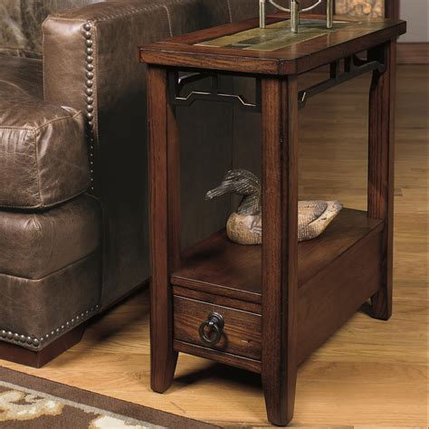 null furniture chairside table null furniture 5013 chairside end table with inset