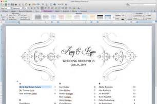 Wedding Table Planner Template Wedding Seating Plan Template Word
