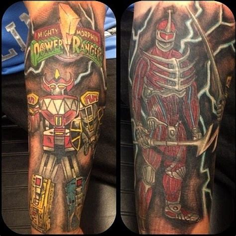 power rangers tattoo might morphin power rangers epic dig it jdf