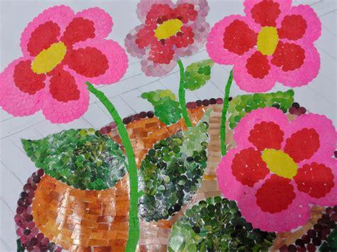 cara membuat seni kolase seni rupa cara membuat mozaik