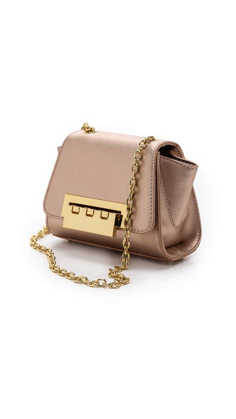 Zac Posen Lil Zac Grainy Leather Purse by Lyst Zac Zac Posen Basic Eartha Mini Cross Bag In Pink