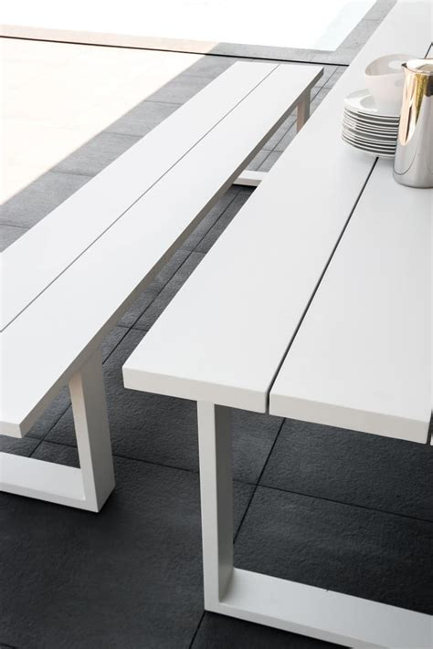 tavoli esterno tavolo da pranzo in alluminio per esterno idfdesign