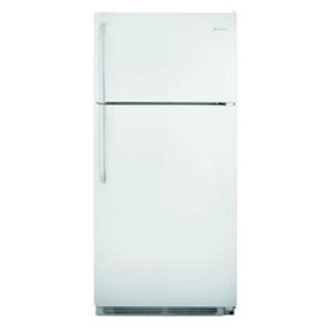 frigidaire 18 cu ft top freezer refrigerator in white