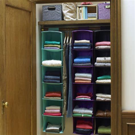 hanging closet organizer living  college life