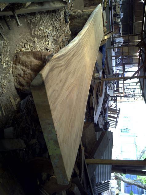 Meja Kayu Kelengkeng meja kayu trembesi solid dan alami 5m x 80cm x 12cm