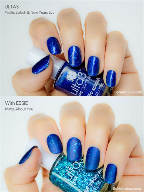 top matte nail glitter nail with matte top coat images