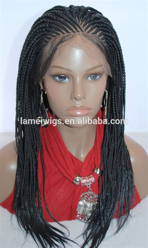 purchasing human braided wigs braided lace front wig cornrow in 19 inches buy braided