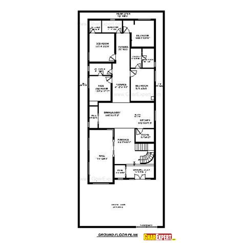 home design for 100 sq yard house plan for 40 feet by 100 feet plot plot size 444