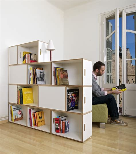 dividing storage wall kids storage bookcase furniture