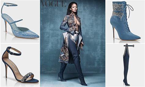 Sepatu Rihanna Cewek Ms2233 denim desserts koleksi sepatu kolaborasi rihanna dan
