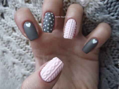 knit pattern nails 15 sweater inspired nail designs