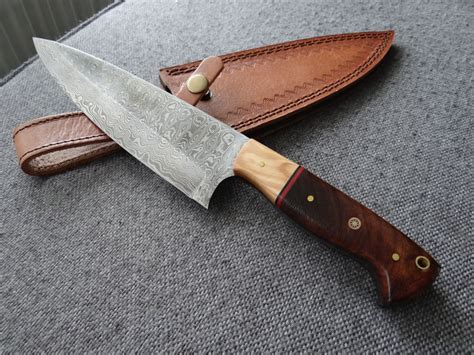 large kitchen knives large damascus kitchen knife catawiki